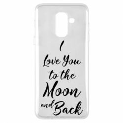 Купить 14 Февраля, Чехол для Samsung A6+ 2018 I love you to the moon and back, FatLine