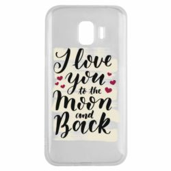 Чохол для Samsung J2 2018 I love you to the moon