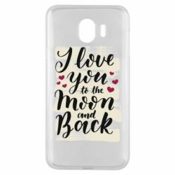 Чохол для Samsung J4 I love you to the moon