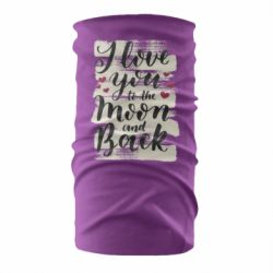 Бандана-труба I love you to the moon
