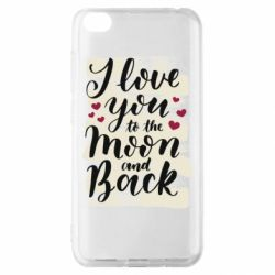 Чохол для Xiaomi Redmi Go I love you to the moon