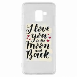 Чохол для Samsung A8+ 2018 I love you to the moon