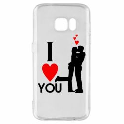 Чехол для Samsung S7 I love you