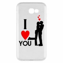 Чехол для Samsung A7 2017 I love you