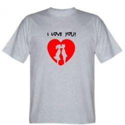 Мужская футболка I love you - FatLine