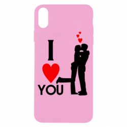 Чехол для iPhone X/Xs I love you