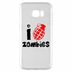 Чехол для Samsung S7 EDGE I love zombies