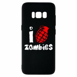 Чехол для Samsung S8 I love zombies