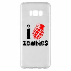 Чехол для Samsung S8+ I love zombies