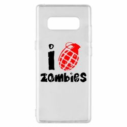 Чехол для Samsung Note 8 I love zombies