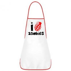 Фартук I love zombies - FatLine