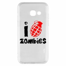 Чехол для Samsung A3 2017 I love zombies