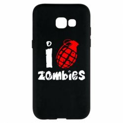 Чехол для Samsung A5 2017 I love zombies
