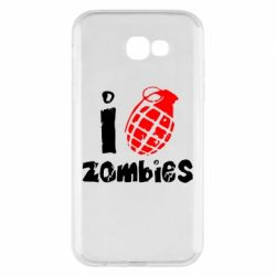 Чехол для Samsung A7 2017 I love zombies