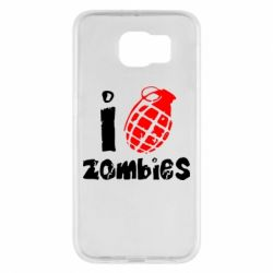 Чехол для Samsung S6 I love zombies