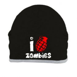 Шапка I love zombies - FatLine
