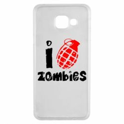 Чехол для Samsung A3 2016 I love zombies