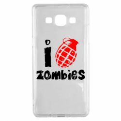 Чехол для Samsung A5 2015 I love zombies