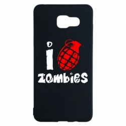 Чехол для Samsung A5 2016 I love zombies