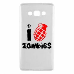 Чехол для Samsung A7 2015 I love zombies