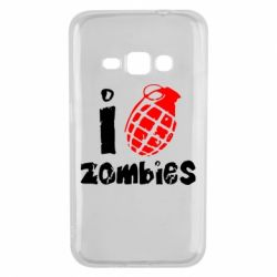 Чехол для Samsung J1 2016 I love zombies