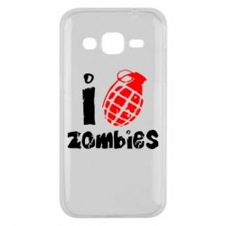 Чехол для Samsung J2 2015 I love zombies