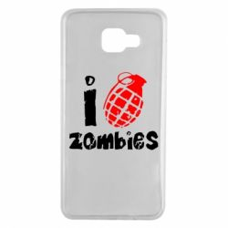 Чехол для Samsung A7 2016 I love zombies