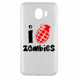 Чехол для Samsung J4 I love zombies