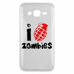 Чехол для Samsung J5 2015 I love zombies