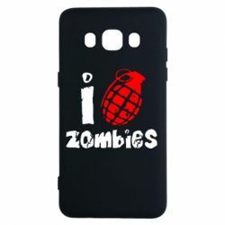 Чехол для Samsung J5 2016 I love zombies