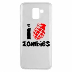 Чехол для Samsung J6 I love zombies