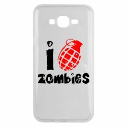 Чехол для Samsung J7 2015 I love zombies