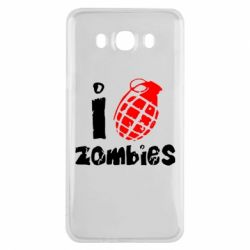 Чехол для Samsung J7 2016 I love zombies
