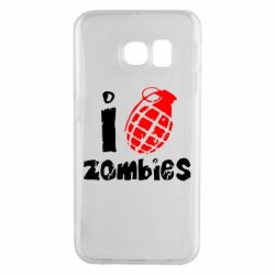 Чехол для Samsung S6 EDGE I love zombies