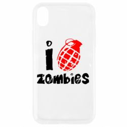 Чехол для iPhone XR I love zombies