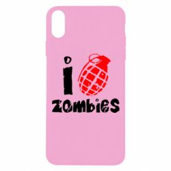 Чехол для iPhone Xs Max I love zombies