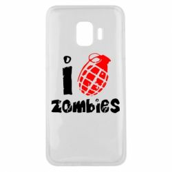Чехол для Samsung J2 Core I love zombies