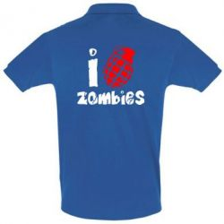 Футболка Поло I love zombies - FatLine