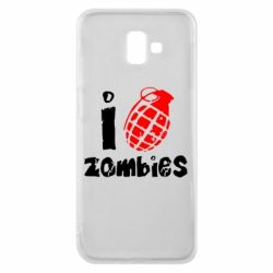 Чехол для Samsung J6 Plus 2018 I love zombies