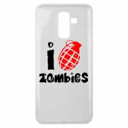 Чехол для Samsung J8 2018 I love zombies