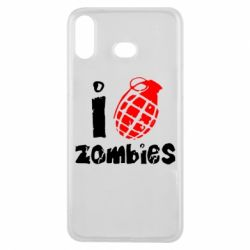 Чехол для Samsung A6s I love zombies