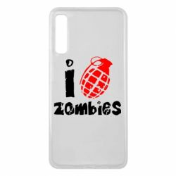 Чехол для Samsung A7 2018 I love zombies