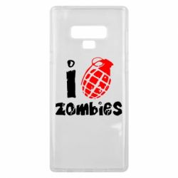 Чехол для Samsung Note 9 I love zombies