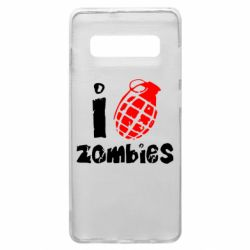 Чехол для Samsung S10+ I love zombies