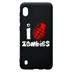 Чехол для Samsung A10 I love zombies