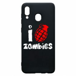Чехол для Samsung A20 I love zombies