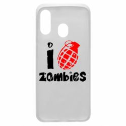 Чехол для Samsung A40 I love zombies