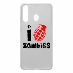 Чехол для Samsung A60 I love zombies