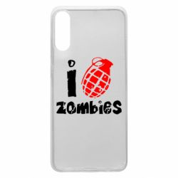 Чехол для Samsung A70 I love zombies
