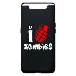 Чехол для Samsung A80 I love zombies